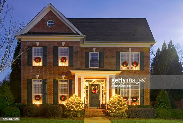 christmas lights - ornate stock pictures, royalty-free photos & images