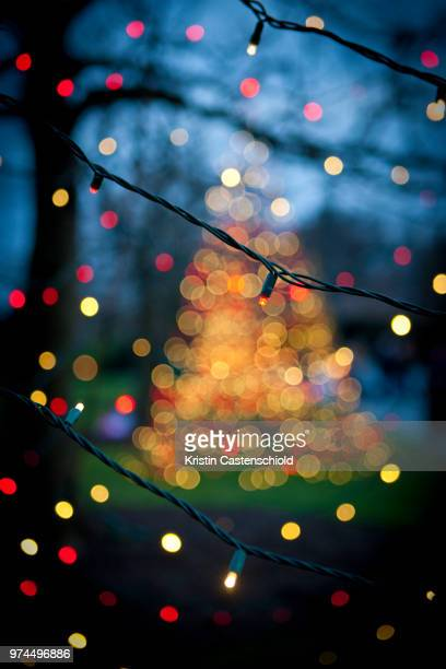 christmas lights - christmas background stock photos and pictures