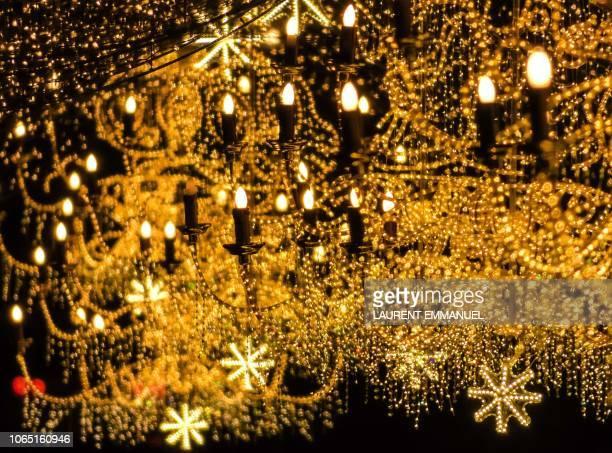 Christmas lights sparkle in Rome on November 25 2018