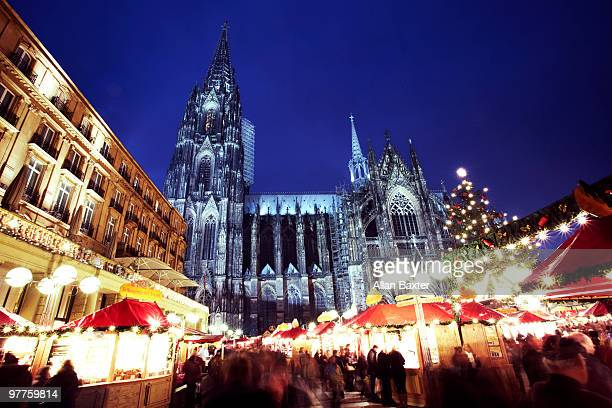 Christmas market and cathedral