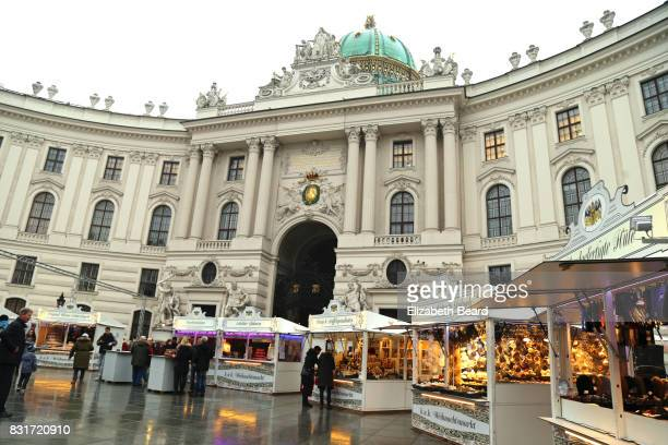 Christmas market at St. Michaels Square at the Hofburg castle, Vienna