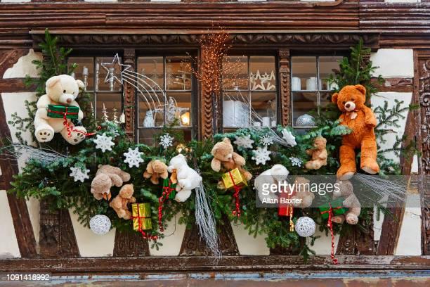 Christmas market decorations in Strasbourg Christmas market