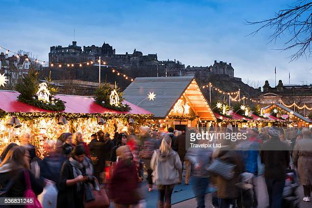 Christmas market, Edinburgh