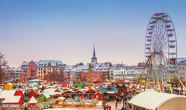 christmas market erfurt - erfurt stock pictures, royalty-free photos & images
