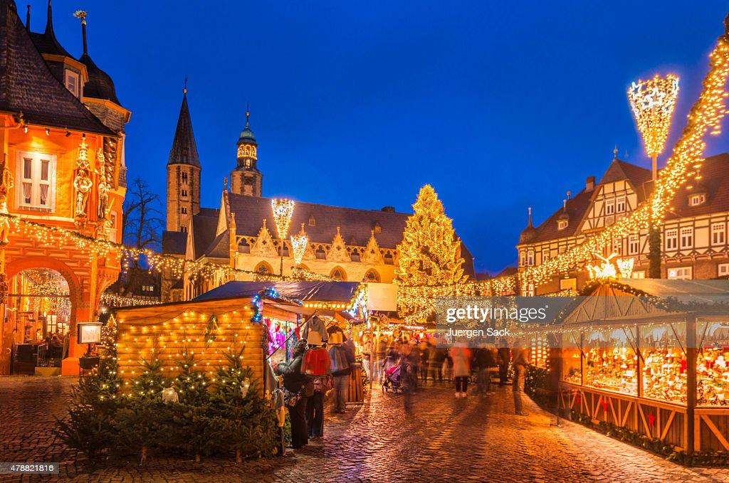 Christmas Market Goslar : Stock Photo