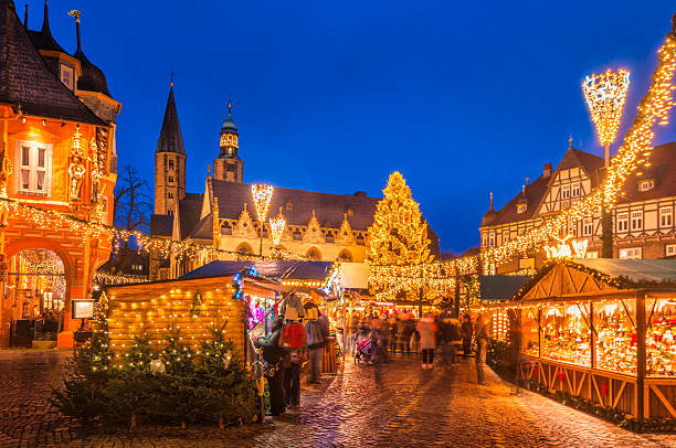 christmas market goslar - germany stock pictures, royalty-free photos & images
