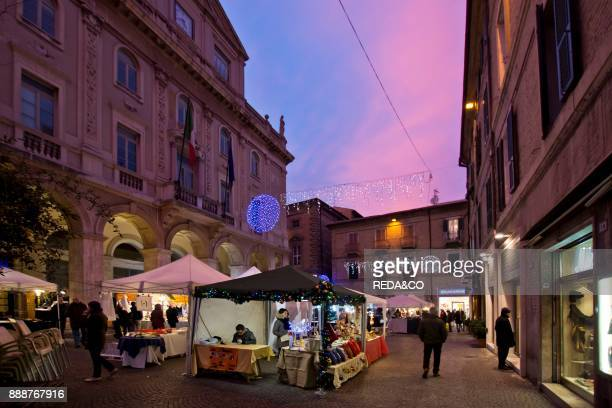 Christmas market Illuminations MacerataMarche Italy Europe