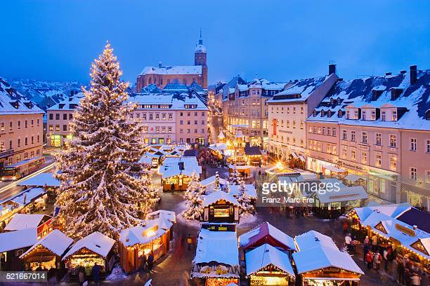 christmas market in annaberg-buchholz - mercado natalino - fotografias e filmes do acervo