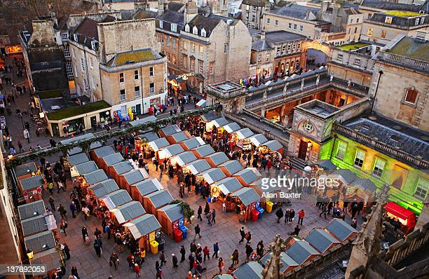 christmas market in bath - bath england stock pictures, royalty-free photos & images
