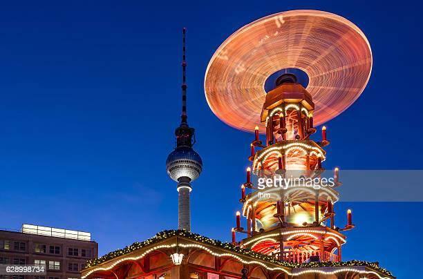 Christmas market in Berlin at Alexanderplatz (Berlin/ Germany)