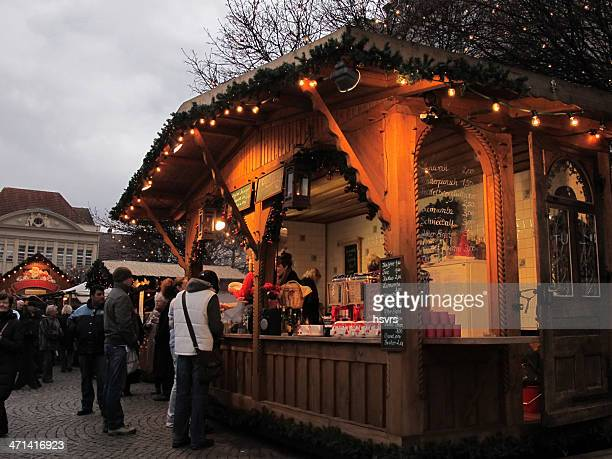 christmas market in berlin people wanna buy mulled wine (germany) - spandau stock pictures, royalty-free photos & images