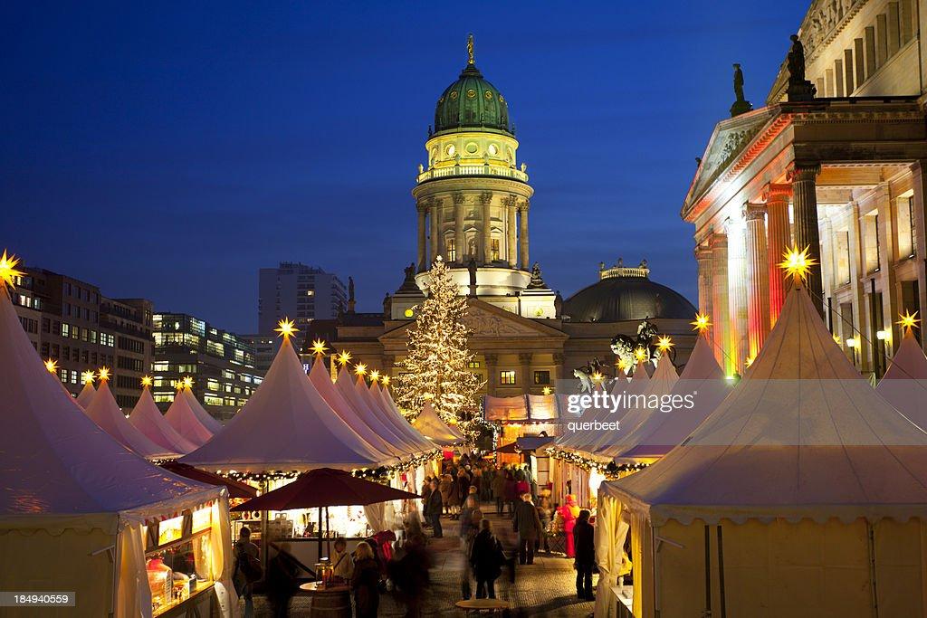 Mercado de Natal em Berlim : Foto de stock