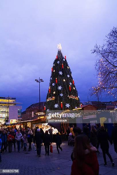 mercado navideño en dortmund - dortmund ciudad fotografías e imágenes de stock
