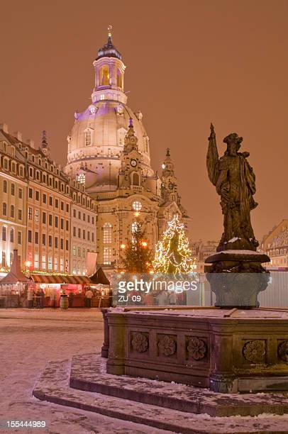 Christmas market in Dresden with Frauenkirche