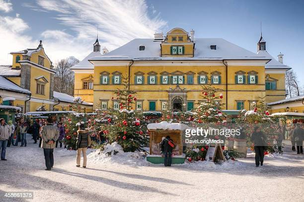 christmas market in europe - salzburger land stock pictures, royalty-free photos & images