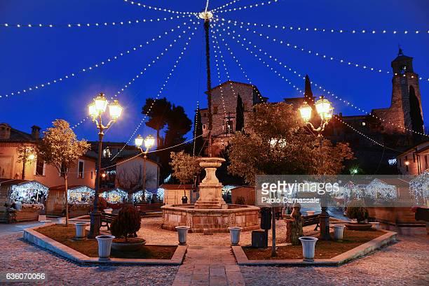Christmas market in Greccio, Rieti Province, Italy.