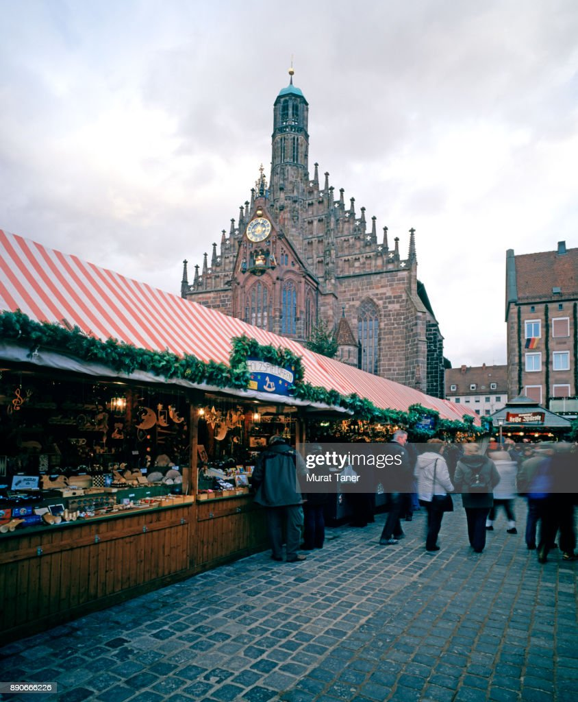 Christmas Market In Nuremberg Stock Photo   Getty Images