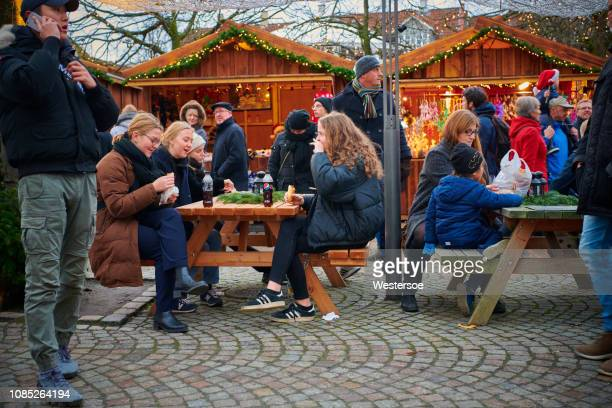 christmas market in odense city - istock photo stock pictures, royalty-free photos & images
