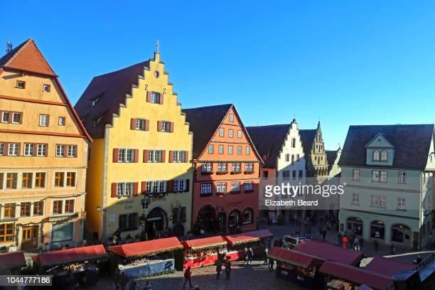 christmas market in rothenburg ob der tauber, bavaria - rothenburg stock photos and pictures
