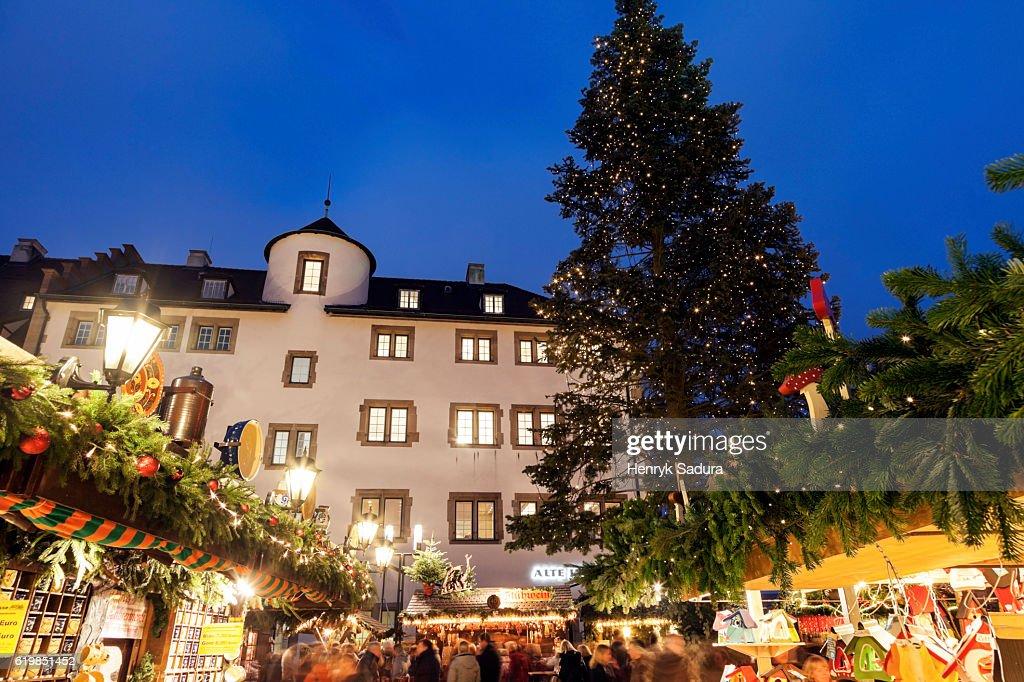 Christmas In Stuttgart Germany.Christmas Market In Stuttgart Germany Stock Photo Getty Images