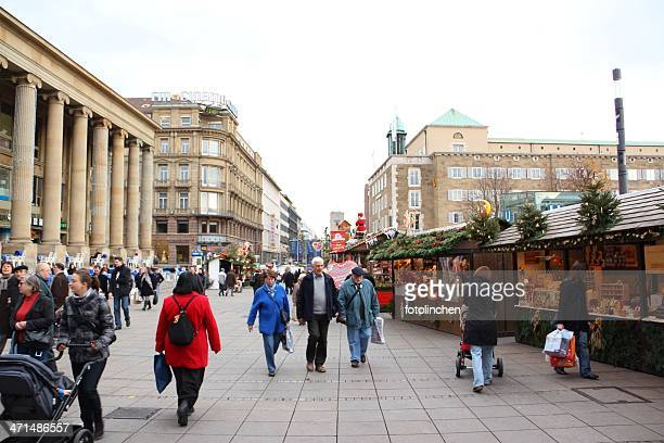 christmas market in stuttgart - castle square stock pictures, royalty-free photos & images