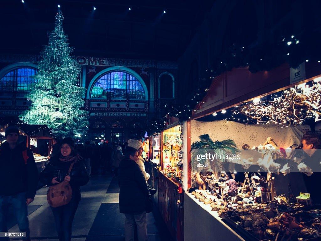 Christmas Market In Switzerland Zurich Stock Photo | Getty Images