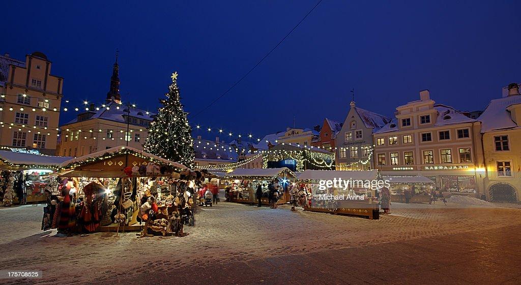 Christmas Market in Tallinn : ストックフォト