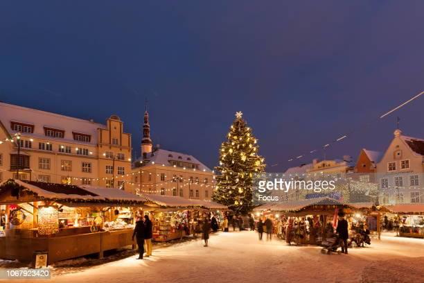 Christmas Market in Tallinn Town Hall Square