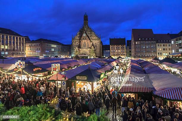 Christmas Market in the Hauptplatz, Nuremberg