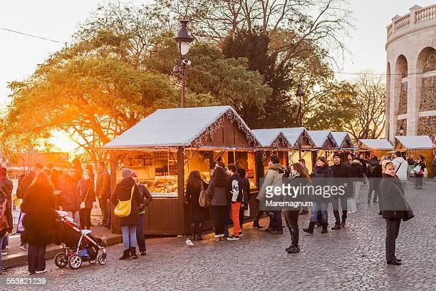 Christmas market near Sacré Coeur Basilica