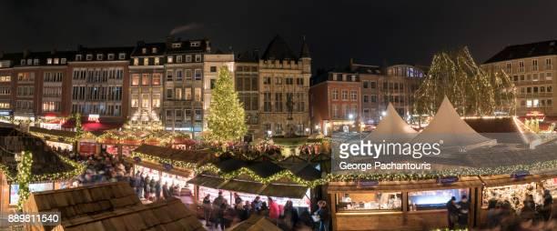 Christmas market panorama