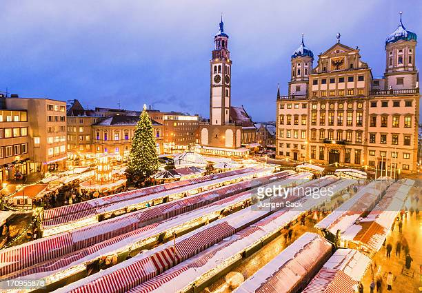 christmas market - augsburg stock pictures, royalty-free photos & images