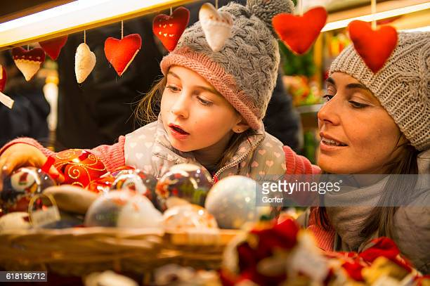 christmas market - heart month stock photos and pictures