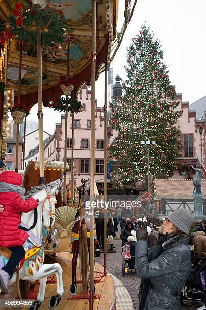 Weihnachtsmarkt, Römer, Frankfurt/Main, Deutschland
