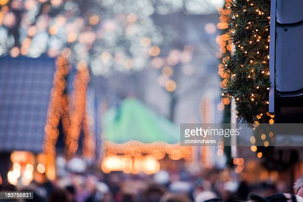 christmas market shoppers - cologne stock pictures, royalty-free photos & images