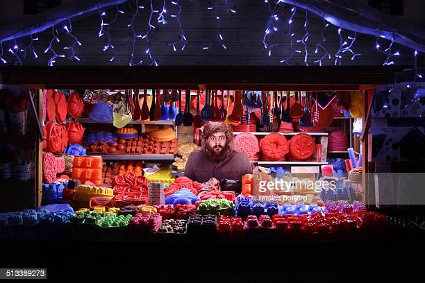 christmas market stall, belgium - one night stand stock-fotos und bilder