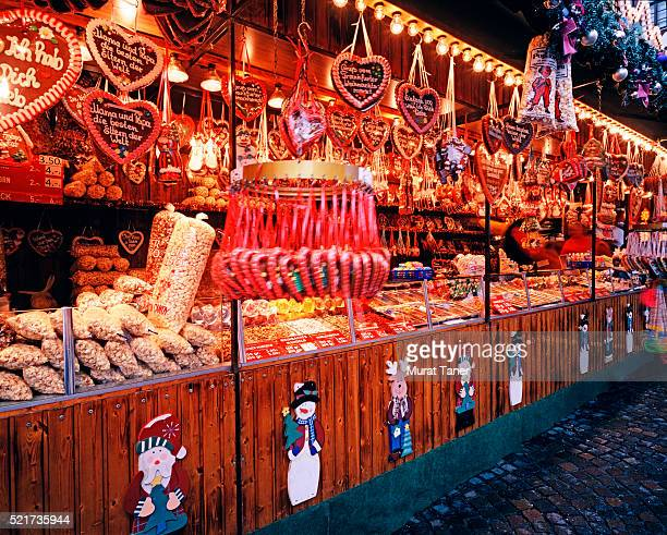 Christmas market stall in Frankfurt, Germany