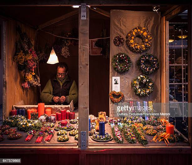 Christmas market stall, Zurich, Switzerland