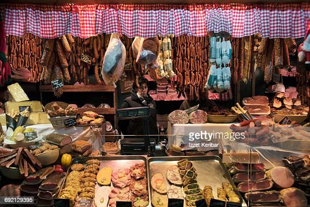 Christmas market stalls at Rathaus square