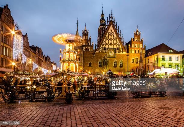 CONTENT] Christmas Market Weihnachtsmarkt Jarmark Bozonarodzeniowy Biggest Christmas Market in Poland Located in Market Square Old Town Wroclaw Poland