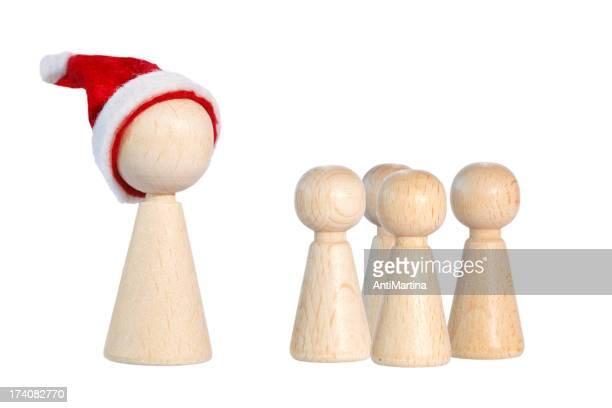 Weihnachten meeple mit Kindern pawns