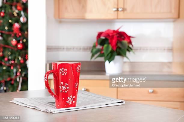 Weihnachten Kaffee am Morgen