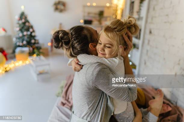 christmas morning in our home - 2 5 months stock pictures, royalty-free photos & images
