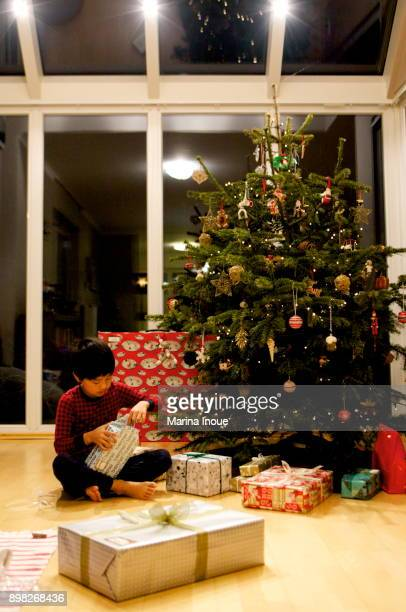 christmas morning - inoue stock photos and pictures