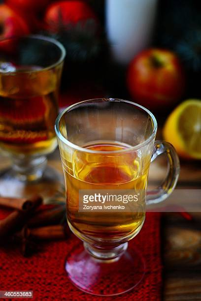 Christmas mulled apples wine