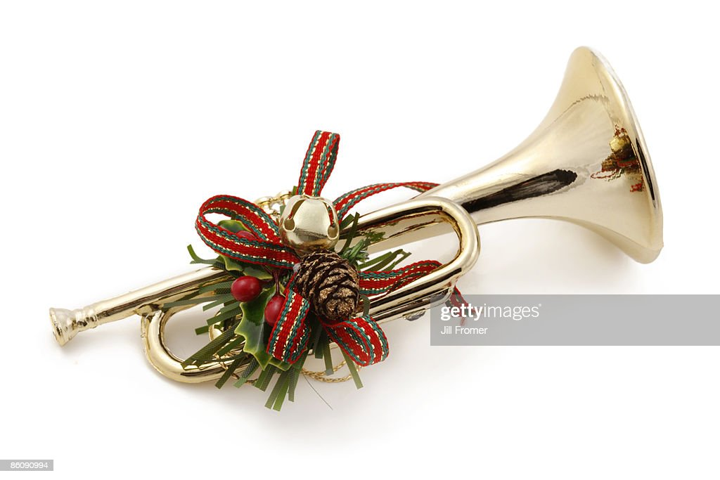 Christmas Trumpet Images.Christmas Music Trumpet Ornament High Res Stock Photo