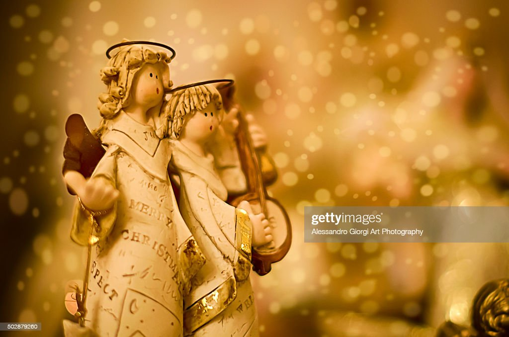 Christmas musicians : Foto stock