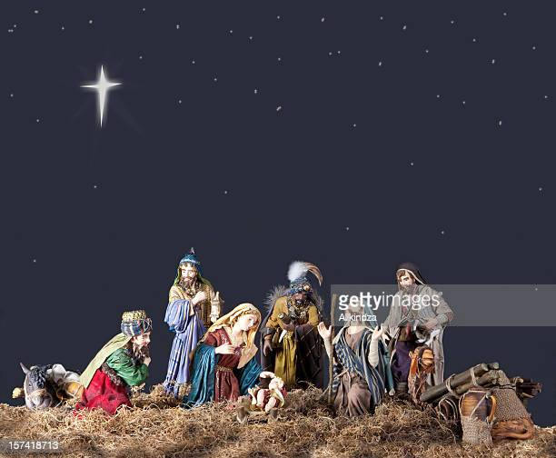 christmas nativity - manger stock photos and pictures