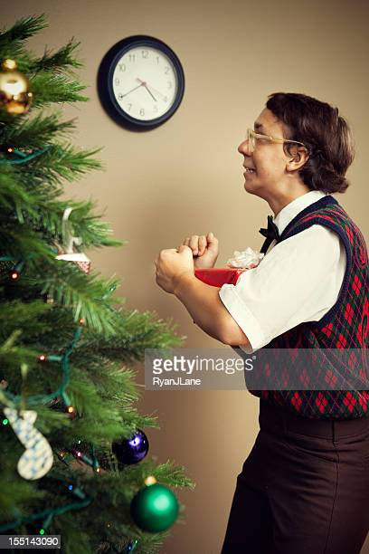 Christmas Nerd Child Counts Down Until Present Time