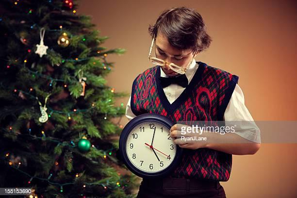 Weihnachten Uncool Kind zählt, bis Sie Zeit
